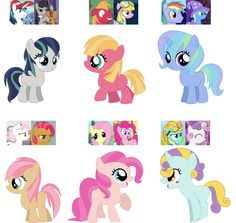 pony is Melody. the second pony is cherry blossom. the third is star trail. the fourth is butter cup. the fith is short cake. and the sixth is stormy My Little Pony Quiz, My Little Pony Twilight, Mlp Base, My Little Pony Wallpaper, Little Poni, Pony Drawing, Miniature Crafts, My Little Pony Friendship, Movies