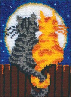 Caron WonderArt 15x20 Latch Hook Kit Butterfly Moon