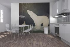 photowall / Ryan Fowler - Constellations Polar Bear (e22284)
