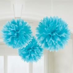 Our Blue Medium Tissue Paper Pom Poms are fun and festive party decorations in a beautiful shade of blue. Each set of Blue Tissue Pom Poms contains eight pom poms. Tissue Paper Ball, Tissue Pom Poms, Paper Balls, Pom Pom Decorations, Paper Decorations, Wedding Decorations, Party Fiesta, Baby Shower, Ideas Party