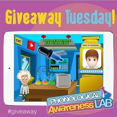 Welcome to giveaway Tuesday! We have 6 copies to giveaway of our app called Phonological Awareness Lab. All you have to do is to tag a friend who you think would like to win this app. if you are selected you and your friend will win a copy of Phonological