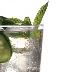 great non-alcoholic drink recipe: Cucumber, Mint, and Basil Soda ...