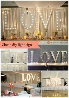 DIY Light Up Letters - new last name behind table?