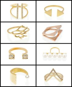 Fantastic gold-plated rings from Benique. Perfect for stacking, or making a smaller statement worn solo.