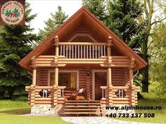 Case ieftine din lemn rotund la munte Small Cottage House Plans, Tiny House Cabin, Log Cabin Homes, Cottage Homes, Style At Home, Wooden House Design, House 3d Model, Alpine House, Castle House