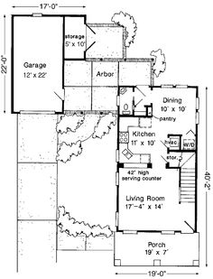 Floor Plans AFLFPW07966 - 2 Story Country Home with 2 Bedrooms, 1 Bathroom and 985 total Square Feet