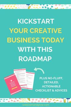 Kickstart your creative business even without degree in design, with these 6 steps. Plus, you'll get free kickstart your biz roadmap. - We Bloom and Grow Creative Business, Business Tips, Online Business, Business Management, Management Tips, Right To Education, Blog Tips, Tricks, Marketing Strategies