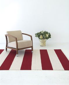 ARMADILLO & CO BAND STRIPE - CRIMSON #formfunctstyle  Rug for Finny's Bedroom