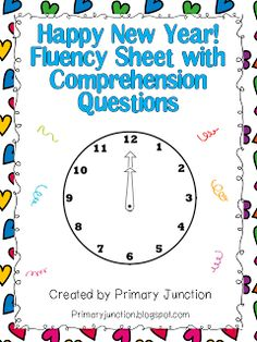 Classroom Freebies: Happy New Year! Fluency Sheet with Comprehension Questions