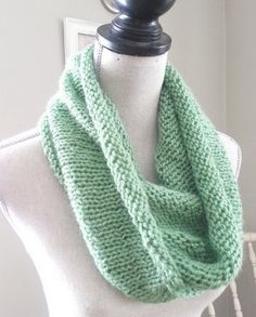 This refreshing mint-colored infinity scarf is the perfect accessory to brighten up your spring wardrobe. The Fresh Spring Infinity Scarf is a great weight for breezy spring days - not too light, and not too heavy.