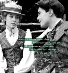 Anne and Gilbert romance. #anneofgreengables
