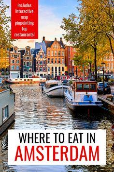 Amsterdam Restaurant, Amsterdam Food, Visit Amsterdam, Amsterdam Travel, Europe Travel Guide, Travel Guides, Travel Destinations, European Vacation, European Destination