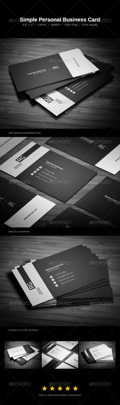 Personal Business card .  Download here : http://graphicriver.net/item/simple-business-card/1099811?s_rank=14