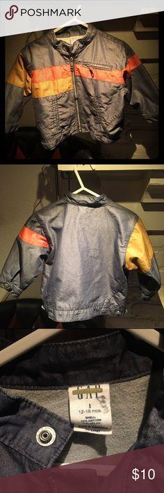 BabyGap bomber jacket Adorable bomber style jacket with one orange, one gold stripe and zippered breast pocket baby gap Jackets & Coats
