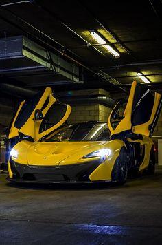 Stunning Yellow McLaren P1