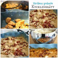 Världens godaste kycklingrätt Swedish Recipes, Lchf, Food Inspiration, Slow Cooker, Bacon, Chicken Recipes, Food And Drink, Yummy Food, Diet