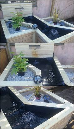 To give out your garden with the attractive effects, you can suitably make it add up with the designs of the pallet creation. This is simply so mind-blowing looking with the effects of the water and use of stones in it. It is readily accessible in so many shapes and sizes that depends on your choices and requirements.