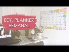 DIY, quadro de organização, planner semanal, planner, DIY planner, faça você mesmo, vídeo, Youtube, Juliana Duarte, Julie Duarte, Julie de Batom, quadro de organização semanal, planner de parede, blog planner, calendário, como fazer planner