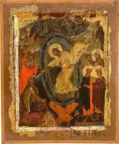 The Descent into hell. Early 14th c. A true artistic accomplishment. Icon gallery, Ohrid, FYRoM.