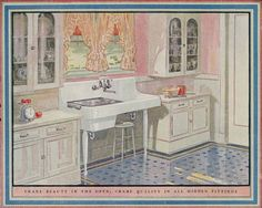 1925 Crane Plumbing - Kitchen Design of the 1920s - Vintage Inspiration from the 20th Century