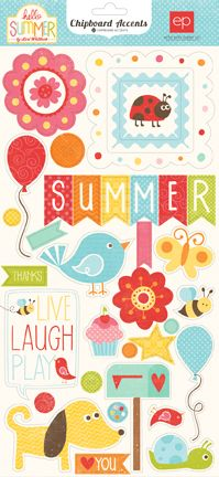 Echo Park - Hello Summer Collection - Chipboard Stickers at Scrapbook.com $3.99