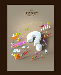 Hennessy intranet posters by Alexandre Efimov, via Behance