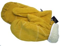 Daxx Split Grain Deerskin Chopper w Removable Sherpa lining at Amazon Men s  Clothing store  Mittens 5b2a143e660e