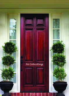 Front Door Decals - No Soliciting