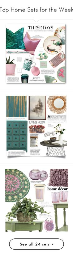 """""""Top Home Sets for the Week"""" by polyvore ❤ liked on Polyvore featuring interior, interiors, interior design, home, home decor, interior decorating, PèPè, Bitossi, Gucci and Dot & Bo"""