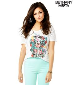 The sass is real! Bethany Mota Spring Collection at Aeropostale