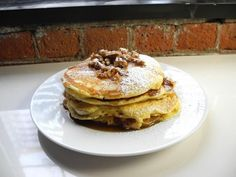 Get Georgia's Stuffed Banana Praline Pancakes Recipe from Cooking Channel