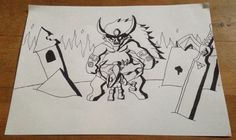 The Legend of Zelda Ocarina of time : Link vs Ganon.  Just a quick drawing