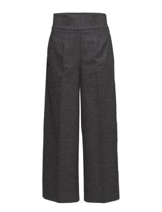 DAY - Dellina Side closure High-waisted Straight cut Wide leg Elegant Modern Sophisticated Creased lines Straight leg Pants Trousers Straight Cut, Straight Leg Pants, Wide Leg, Trousers, Pajama Pants, Closure, Elegant, Day, Modern