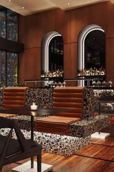 Castell Rooftop Bar Location: New York Design studio: BHDM Architectural Visualisation: VisEngine Digital Solutions Pub Design, Bar Interior Design, Lounge Design, Restaurant Interior Design, Hotel Lounge, Bar Lounge, Rooftop Restaurant, Rooftop Bar, Cafe Bar