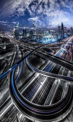 """""""TRON"""" by Sebastian Tontsch . Dubai is the most populous city in the United Arab Emirates . Sharjah, Abu Dhabi, Places Around The World, Around The Worlds, Warsaw City, Living In Dubai, Italy Map, Dubai City, Dubai Uae"""