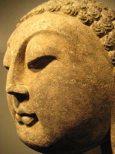 Song Stone Head of a Buddha