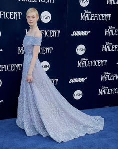 Elle Fanning dazzled us in Elie Saab's lilac gown at the LA premiere of Maleficent.