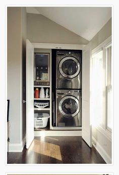 20 Space Saving Ideas for Functional Small Laundry Room Design Small laundry room design is about creating functional spaces where chores do not get procrastinated but get done quickly and efficiently Hidden Laundry, Small Laundry Rooms, Laundry Room Storage, Laundry Room Design, Laundry In Bathroom, Laundry Area, Laundry Cupboard, Compact Laundry, Laundry In Kitchen