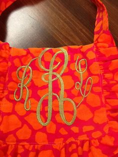 Made to Order Small Monogrammed Southern by GrandmasSewingStudio