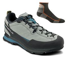 La Sportiva Men's Boulder X Approach Shoe Light Grey w/ Sock - 46 -- Find out more about the great product at the image link.