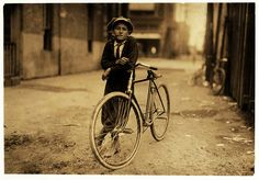 Lewis Hine: Messenger boy for Mackay Telegraph Co., Waco, Texas, 1913 by trialsanderrors, via Flickr