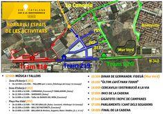Zones i horaris de les activitats dels trams de la Canonja (218, 219 i 220) a la Via Catalana