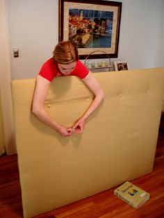 Living the Swell Life: diy: upholstered headboard