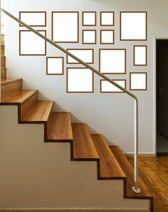 quadros na escada