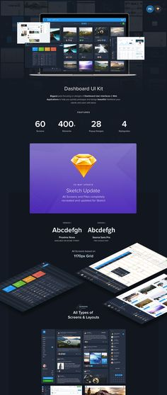 Biggest pack focusing on designs of Dashboard User Interfaces & Web Applications to help you quickly prototype and design beautiful interfaces your clients and users will adore. 60 Screens with all various layouts. All packed with 2 Typeface versions - with Free Google Font Source Sans Pro & secondary Proxima Nova. Everything is based on 1170px Grid system. Sketch version is now included in full package with an updated version of Photoshop with all recreated and more beautiful screens! PS…