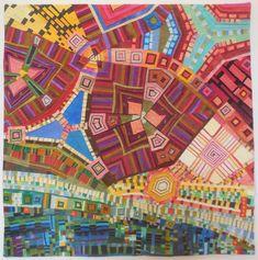 "Niraja Lorenz, Strange Attractor #3 -- Riverway, 41 x 41""  Art With a Needle: Art Quilt Elements 3 -- pieced quilts with pieced stripes"