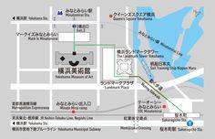 横浜美術館への地図