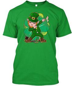 5cf4639a7 Dabbing Leprechaun T shirt for Men Women Boys Girls Kids Toddler Funny Dab  St Patricks Day Novelty Humor Tshirt. Cute costume Tee showing Leprechauns  face ...