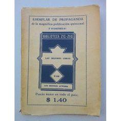 Paraíso Retro Libros: Antigua Revista Biblioteca Zig Zag