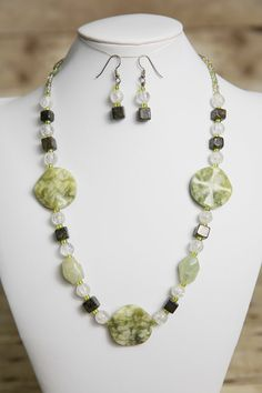 Hey, I found this really awesome Etsy listing at https://www.etsy.com/listing/180682819/jade-and-bronzite-gemstone-beaded